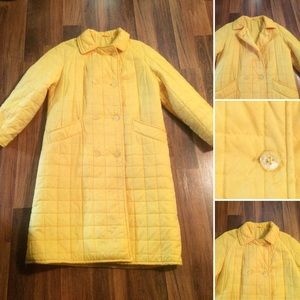 New Listing! Vintage 60s Yellow Quilted Jacket